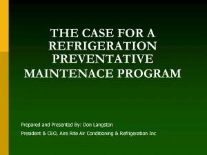 case preventive maintanence