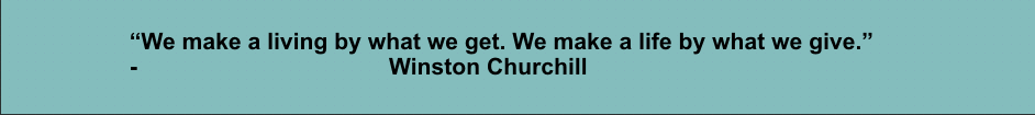 churchill giving slogan